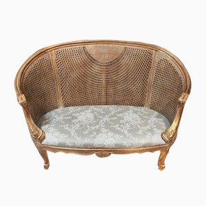 2-Seater Corbeille Sofa in Cane