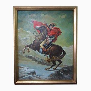 Öl auf Leinwand, Napoleon zu Pferd, Pittore Gattini