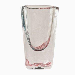 Small Mid-Century Crystal Glass Vase by Asta Stromberg for Strombergshyttan, 1950s