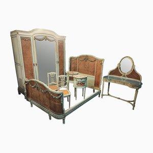 Napoleon III Period Louis XVI Style Bedroom Furniture, Set of 7