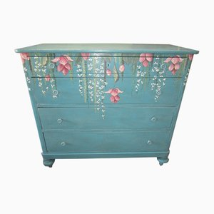 Antique Lacquered Handpainted Chest of Drawers