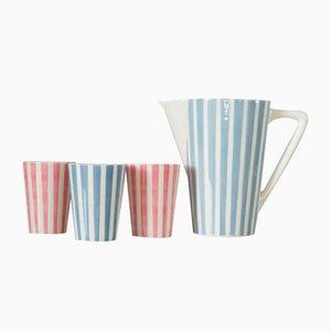 Lemonade Jug & Cups from Staffel Limburg, 1950s, Set of 4