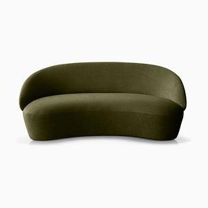 Sofá de dos plazas Naïve de terciopelo verde de etc.etc. para Emko