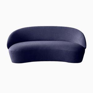 Naïve 2-Sitzer Sofa in Blauem Velours von etc.etc. für Emko