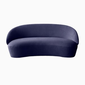 Sofá de dos plazas Naïve de terciopelo azul de etc.etc. para Emko
