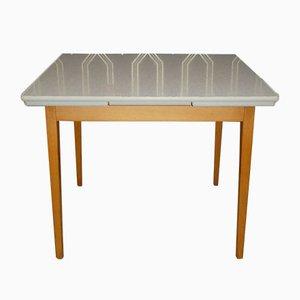 Ausziehbarer Küchentisch aus Holz & Resopal, 1950er