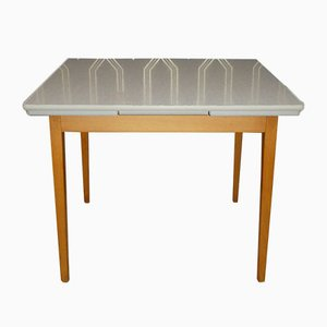 Extendable Kitchen Table in Wood & Formica, 1950s