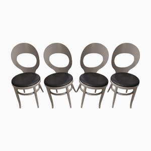 Vintage Mouette Dining Chairs from Baumann, 1980s, Set of 4