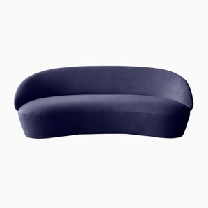Naïve Sofa 3-Seater in Blue Velour by etc.etc. for Emko