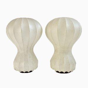 Cocoon Tischlampen von Achille & Pier Giacomo Castiglioni für Flos, 1960er, 2er Set