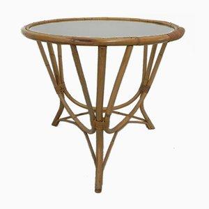 Rattan, Glass & Bamboo Coffee Table