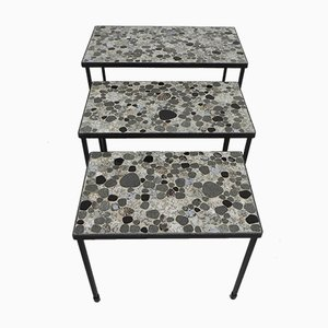 Tiled Stacking Coffee Tables, Set of 3