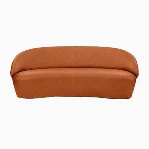 Sofá de dos plazas Naïve de cuero marrón oscuro de etc.etc. para Emko