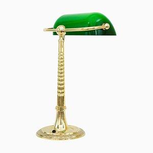 Lámpara de banquero austriaca Art Déco, años 20