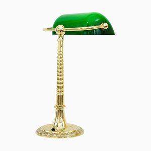 Österreichische Art Deco Banker Lampe, 1920er
