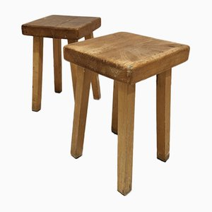 1800 Stools by Charlotte Perriand for Les Arcs, Set of 2