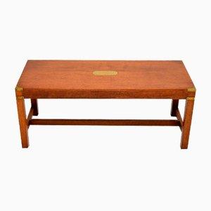 Table Basse Style Campagne Militaire Antique en Acajou