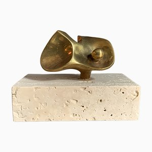 Flor Da Amazonia, Bronze Miniatur von Domenico Calabrone, Brasilien, 1960er