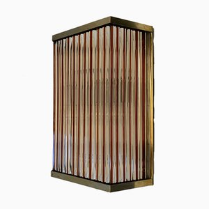 Single Wall Lamp in Murano Glass from De Majo, 1960s
