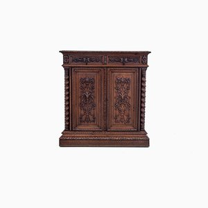 French Oak Hunting Cabinet, 1890.