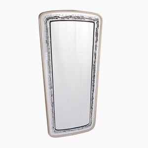 Specchio da parete vintage nero e grigio