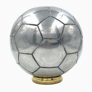 Scultura da calcio in alluminio, XX secolo