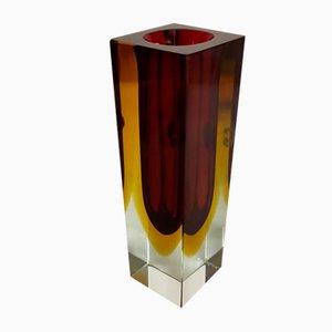 Sommerso Murano Glass Vase, Italy, 1970s