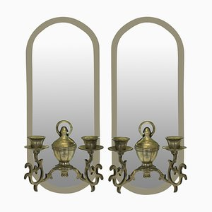 Mid-Century French Candleholders, Set of 2