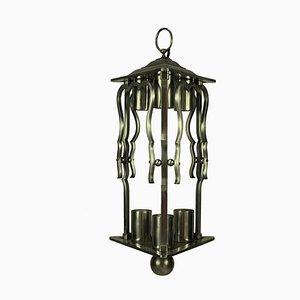 Französische Laterne aus Stahl, 1930er