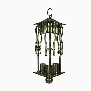 French Steel Lantern, 1930s