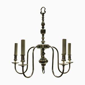 Lámpara de araña inglesa plateada, años 20