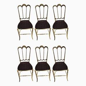 Messing Stühle von Chiavarina, 6er Set
