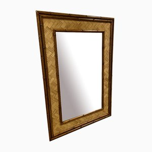 Specchio grande in bambù di Martinica