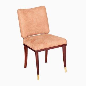Französischer Beiger Art Deco Stuhl von Jules Leleu, 1920er