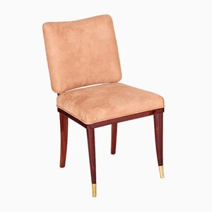 French Art Deco Beige Chair by Jules Leleu, 1920s