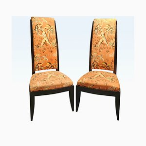 High-Back Armchairs by André Domin and Marcel Genevrière for Dominique, Set of 2