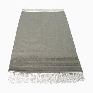 Alfombras Kilim de lana gris tejida a mano