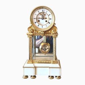 Orologio in bronzo dorato con scappamento Brocot di Trochon, Parigi