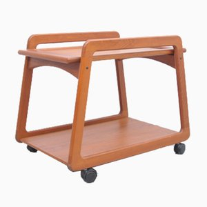 Danish Teak Bar Cart with Swivel Top from Sika Møbler