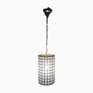 Italian Cylinder Pendant Lamp with Rock Crystal