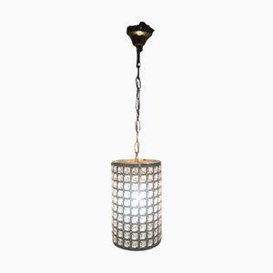 Lámpara colgante italiana cilíndrica con cristal de roca