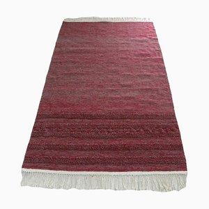 Handgewebter Kelim Teppich aus roter Wolle