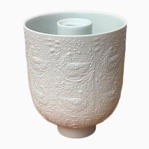 Bougeoir Mid-Century en Porcelaine Blanche par Bjørn Wiinblad pour Rosenthal, Allemagne