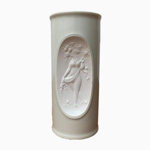 Mid-Century German White Porcelain Vase by Bjørn Wiinblad for Rosenthal