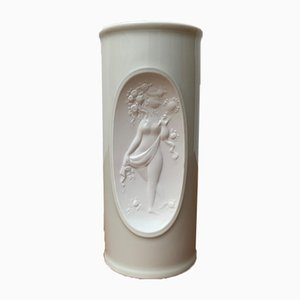 Weiße Mid-Century Porzellanvase von Bjørn Wiinblad für Rosenthal