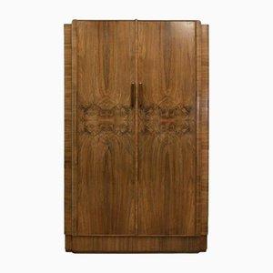 Antique Art Deco Burr Walnut Wardrobe, 1622