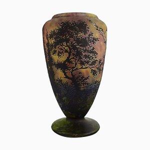Vaso grande in vetro soffiato a bocca di Daum Nancy, Francia
