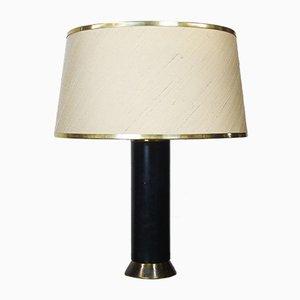 Lampe de Bureau Mid-Century Noire et Dorée, 1950s