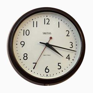 Reloj de pared de baquelita de Smiths Sectric, años 30