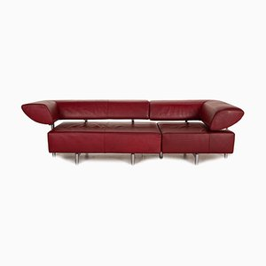 Red Leather Sofa from Cor Arthe